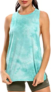 Tie-dye Printed Sports Vest Women Quick-Drying Running Loose Yoga Top Fitness