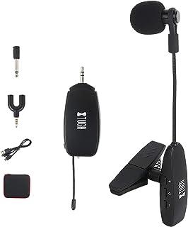 XTUGA UHF - Condensador inalámbrico para micrófono, cuello de cisne, transmisión inalámbrica estable de 30 m, puerto de 1/...