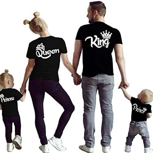 45b4199ca434c Family Clothes Matching - King Queen Crown Short Sleeve Cotton T-Shirt  Printed Funny Tops