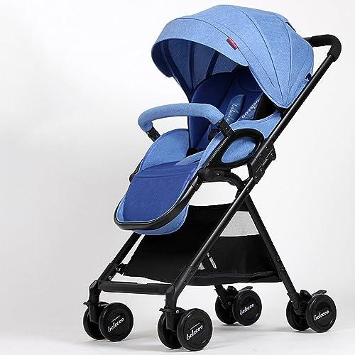 Kinderwagen Kinderwagen kann leicht sitzen und Liegestuhl hoch Landschaft Falten Einfach zu verwenden (Farbe   Blau)