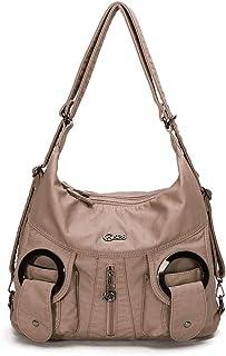 KL928 Tasche Damen Handtasche Umhängetasche shopper damen Henkeltaschen Damenhandtasche damentasche Lederhandtasche Hand Taschen für frauen W6802-APRICOT