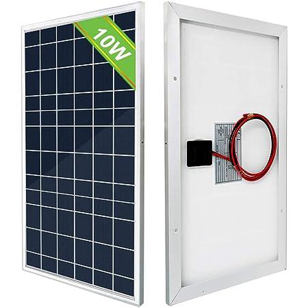 Eco Worthy 10w 12v Polykristallines Solarpanel Tragbares Und ökologisches Solarmodul Für 12v Batterie Ihrer Autoren Boots Gewerbe Industrie Wissenschaft