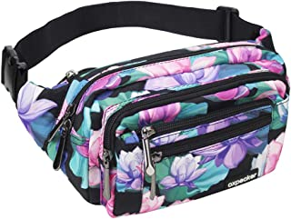 oxpecker Waist Pack Bag with Rain Cover, Waterproof Fanny Pack for Men&Women, Workout..