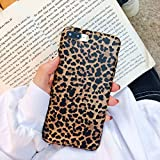 iPhone 8 Plus/iPhone 7 Plus Case ,Opretty Leopard Print Pattern Case Fashion Luxury Cheetah Ultra-Thin Soft TPU Silicone Shockproof Cover for iPhone 8 Plus/iPhone 7 Plus