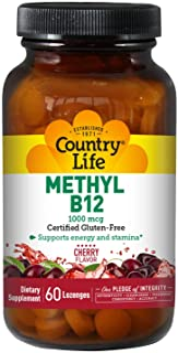 Country Life Methyl B-12 Lozenges , 1000 Mcg, 60 Count
