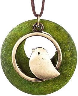 Robin Bird Pendant Enamel Pendant Forest Robin Pendant Animal Forest Necklace Birdie Bird Necklace Songbird Berry Enamel Jewelry