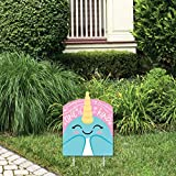 Big Dot of Happiness Narwhal Girl - Outdoor Lawn Sign - Under The Sea Baby Shower or Birthday Party Yard Sign - 1 Piece