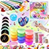 Unicorn Slime Kit Supplies for Girls- DIY Stuff and Activator for Fluffy Cloud Floam Butter Slime 1