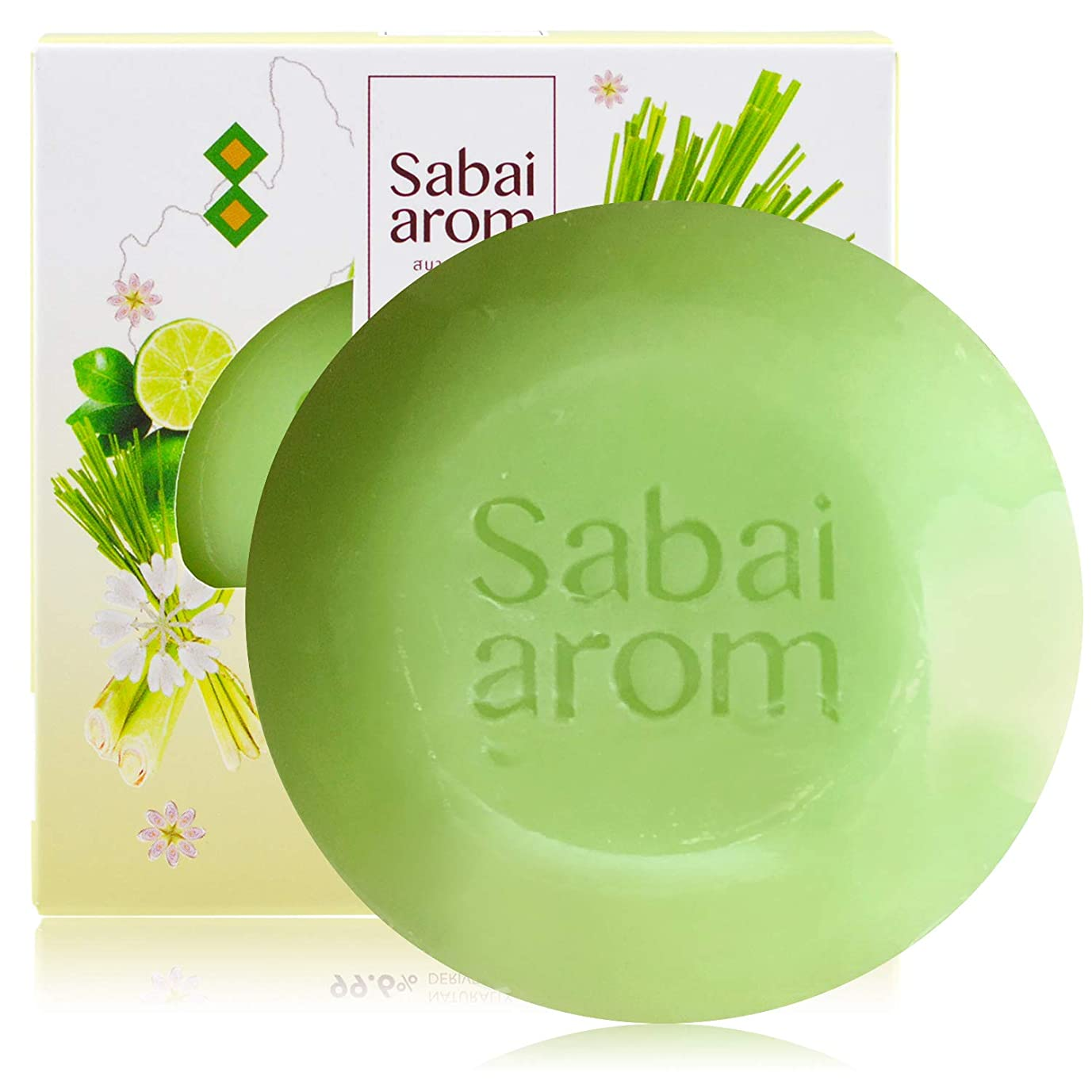 先駆者大西洋義務的サバイアロム(Sabai-arom) レモングラス フェイス&ボディソープバー (石鹸) 100g【LMG】【001】