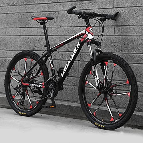 GGXX MTB Mountain Bike 26 Pollici Bicicletta da Strada MTB Regolabile in Altezza A 21 velocità con Doppi Freni A Disco per Uomini E Donne in Bicicletta nelle Città di Strade di Montagna