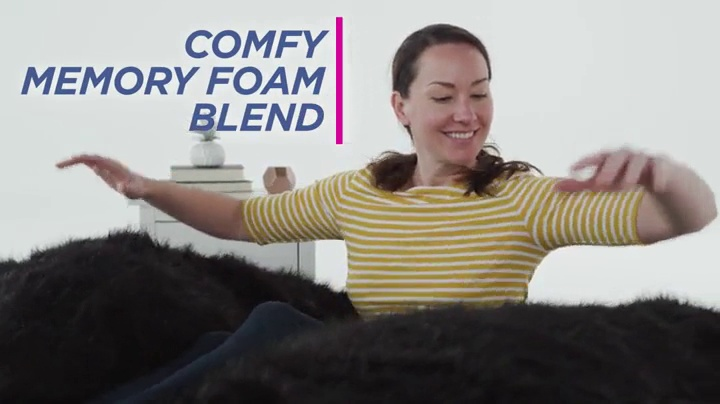 Comfy Sacks 5 ft Memory Foam Bean Bag Chair, Merlot Cords