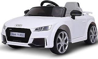 Homcom Véhicule électrique Enfant TT RS 12 V 35 W V. Max. 5 Km/h télécommande Effets sonores + Lumineux Blanc