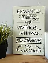 Cuadros de Madera-Estilo Vintage- Con Frases Motivadoras-Bienvenidos a Nuestro Hogar-Personalizado-Decoración Hogar-Regalo para El-Ella