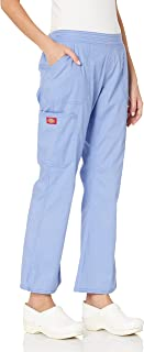 Dickies Women's EDS Signature Stretch Mid-Rise Moderate Flare Leg Pull-on Pant-Petite