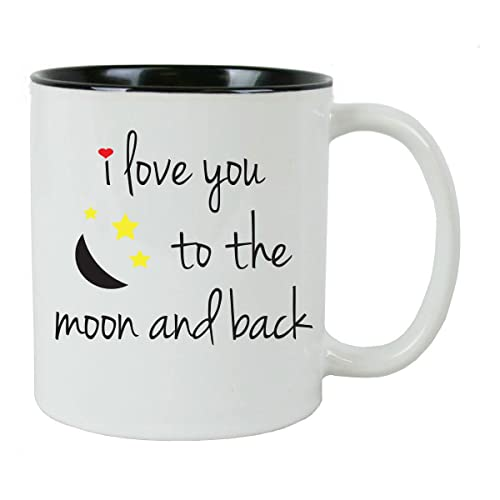 0ba8dd3976b I Love You To The Moon and Back Coffee Mug with FREE Gift Box - -
