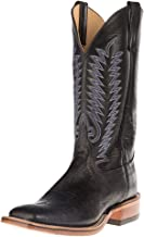 Anderson Bean Mens Ride Ready Black Smooth Ostrich Cowboy Boots
