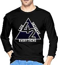 Chelsse Camiseta Manga Larga Mens The Answer is 42 Men's Long Sleeve Cotton Jersey Shirt
