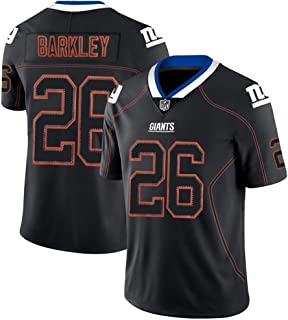 Saquon Barkley 26# American Football Trikot, New York Giants # 26 Herren Rugby Trikot, Feuchtigkeitsableitendes Komforttraining Kurzarm-Oberteil