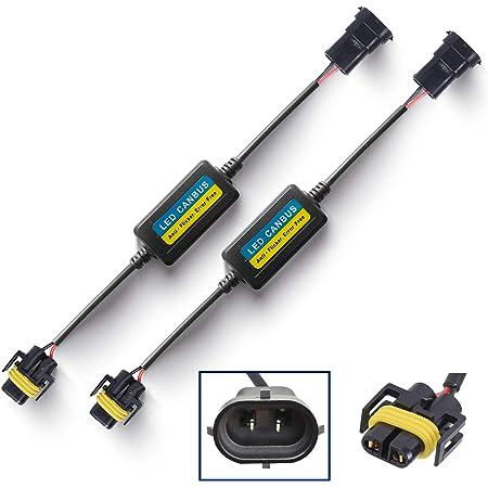 AnyCar Led Headlight Decoder H11 H8 Canbus Resistor Anti-flicker Harness Headlight Bulb Decoder for 2012 Grand Caravan