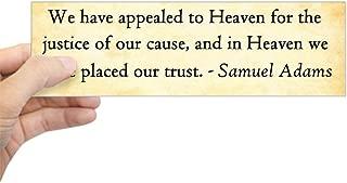 CafePress Samuel Adams - Appeal to Heaven Bumper Sticker 10