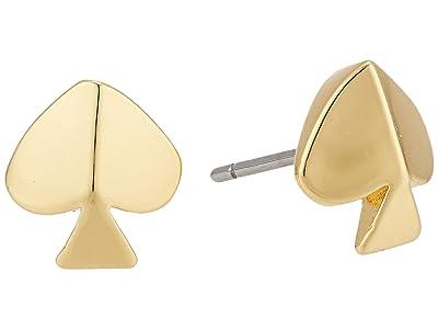 Kate Spade New York Legacy Logo Spade Studs Earrings (Gold) Earring