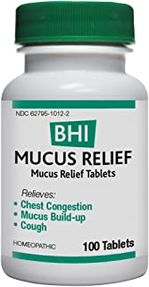 BHI Mucus Relief, Safe Homeopathic Relief, 100 Tablets