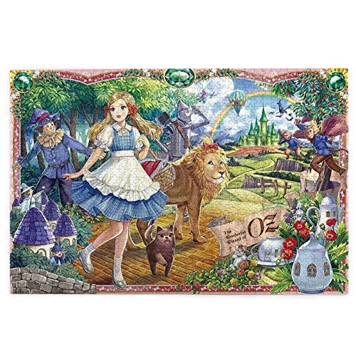 Cute Doormat El maravilloso mago de Oz Jigsaw rompecabezas,Rompecabezas de madera 1000 piezas rompecabezas intelectuales,Desafiante rompecabezas casual para adultos y adolescentes