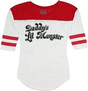 Suicide Squad Harley Quinn Daddy's Lil Monster Burnout Raglan T-shirt