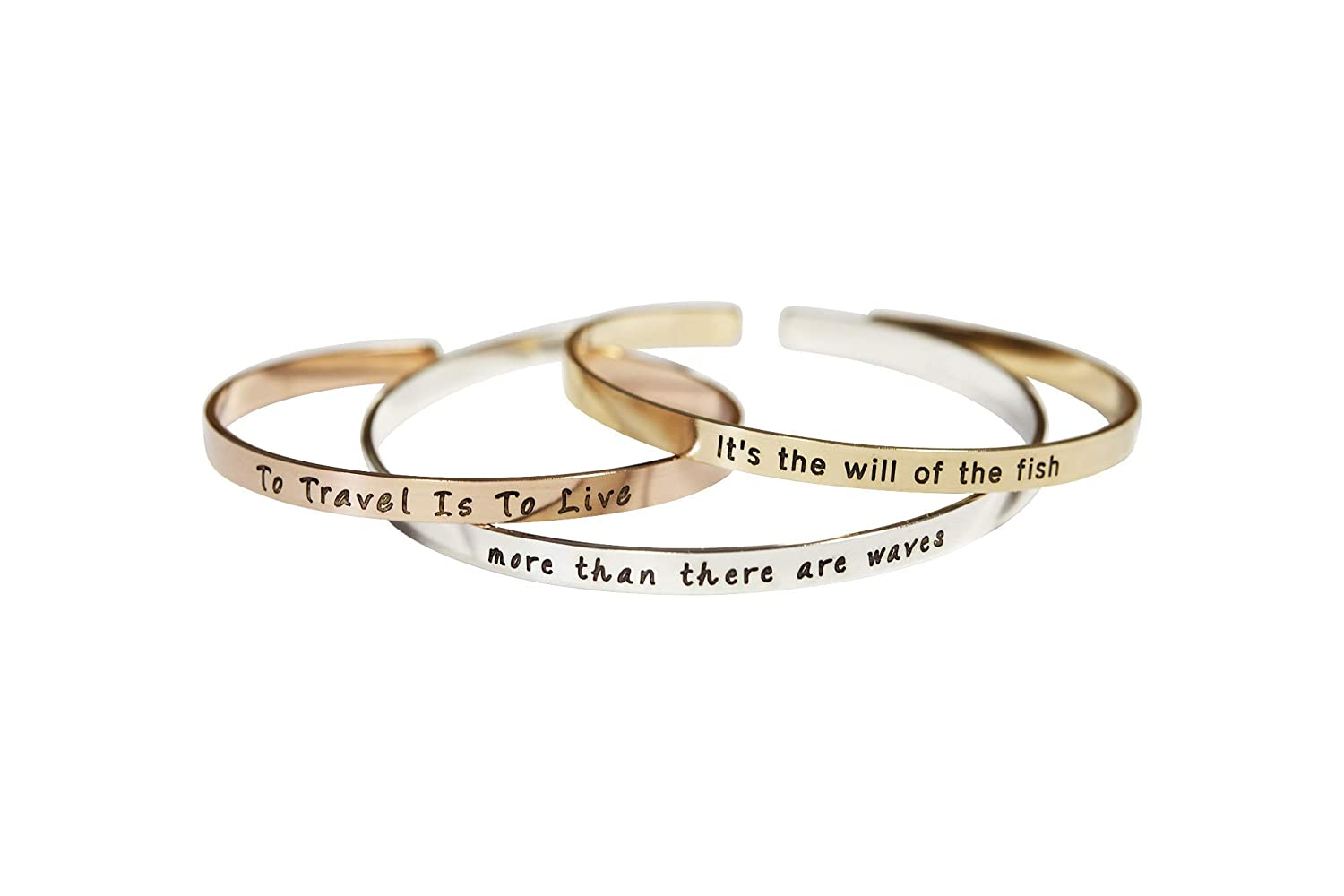 Manufacturer regenerated product Mantra Cuff Band Personalized security Inspirational Bracelet