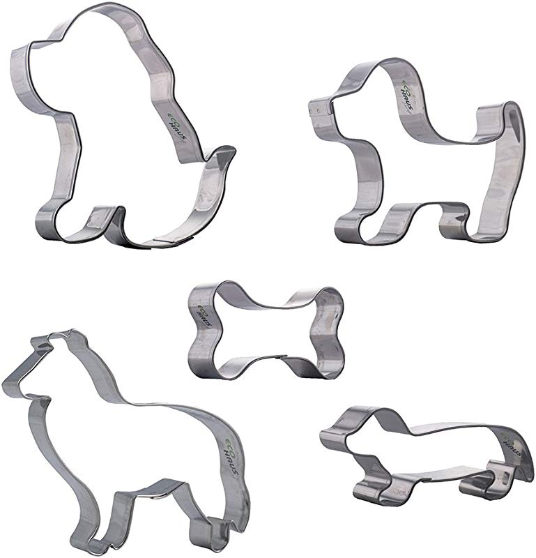 Cookie Cutter Dog Bone Set 5 Pcs Stainless Steel Shaped Easy To Clean Ideal For Fondant Fruit Mold Dough Keks Biscuits And More