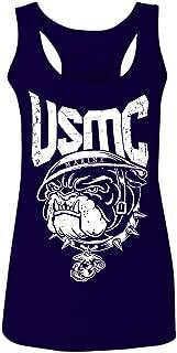 Bull Dog USMC Marine Corp USA American United America Seal Women's Tank Top Sleeveless Racerback