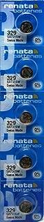 329 Watch battery - Strip of 5 Batteries