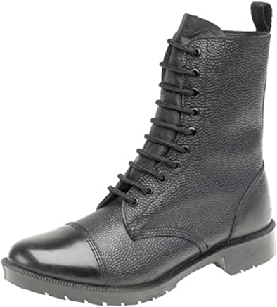 Grafters 10-Eye Cadet Parade Boots,Hi-Shine Toe Cap