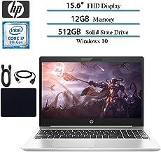 $969 Get 2019 Newest HP Probook 450 G6 Full HD 1920x1080 Flagship Premium Business Laptop, Intel 4-Core i7-8565U, 12GB RAM, 512GB SSD, Bluetooth, Webcam, Win 10 pro w/ Hesvap Accessories