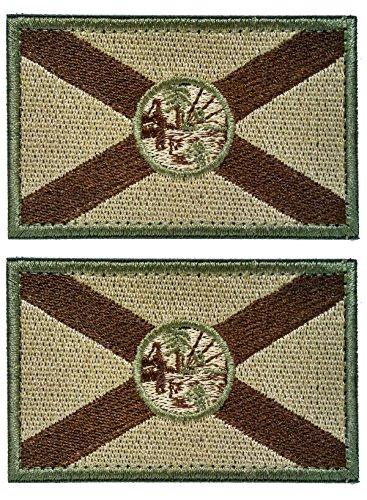 WZT Patch, Motiv: Florida, taktische Flagge, 2 Stück