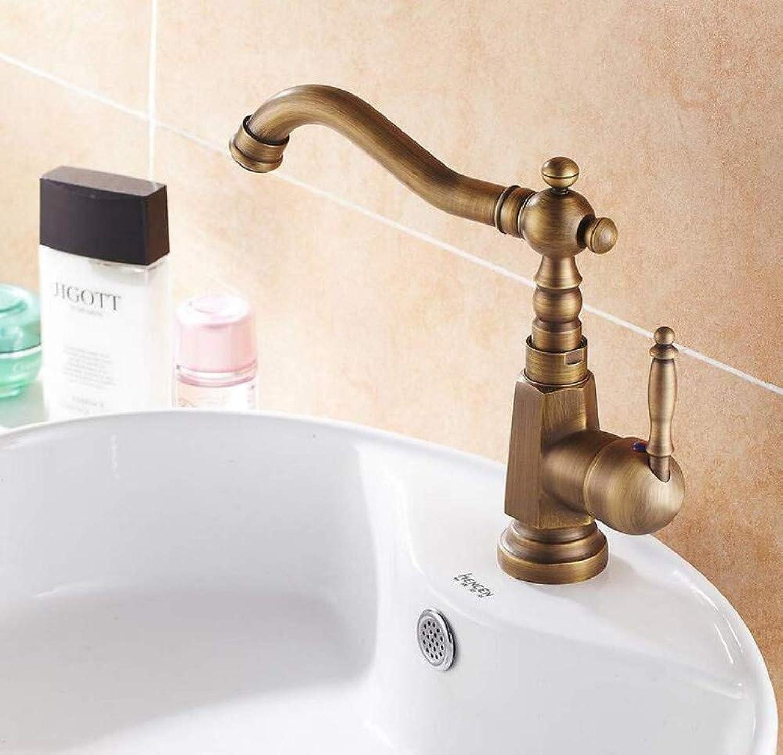 Retro Wasserhahn 360 Grad Einzigen Handgriff Bad Wasserhahn Antike Messing Warmen Und Kalten Wasserhahn Toilette Wasserhahn Duscharmatur