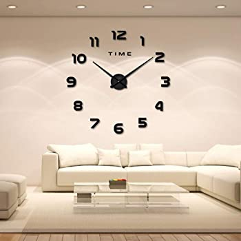 DIY Wanduhr 10D Moderne Wanduhren Acryl Spiegel Metall Bürouhr Wohnzimmer  Schlafzimmer Geschenk Home Decor