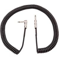 Fender Vintage Voltage Coil Straight-Angle Instrument Cable (20-ft) (Black)