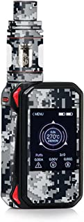 Skin Decal Vinyl Wrap for Smok G-Priv 2 230w touch screen Vape stickers skins cover / Digi Camo Sports Teams Colors digital camouflage Black Silver