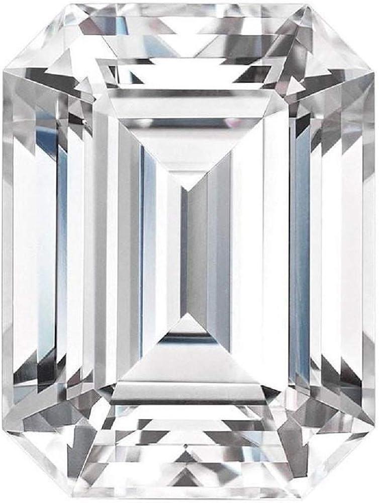 Bhumi Gems 7CT Emerald Cut Moissanite Rare Colorless Loo Clarity Max 40% OFF VVS1