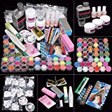 Acrylic Nail Kit, Nail Acrylic Powder and Liquid Set with All in One Nail Art Decoration Tools Professional Manicure Nail Art Tools Kit (95 PCS)