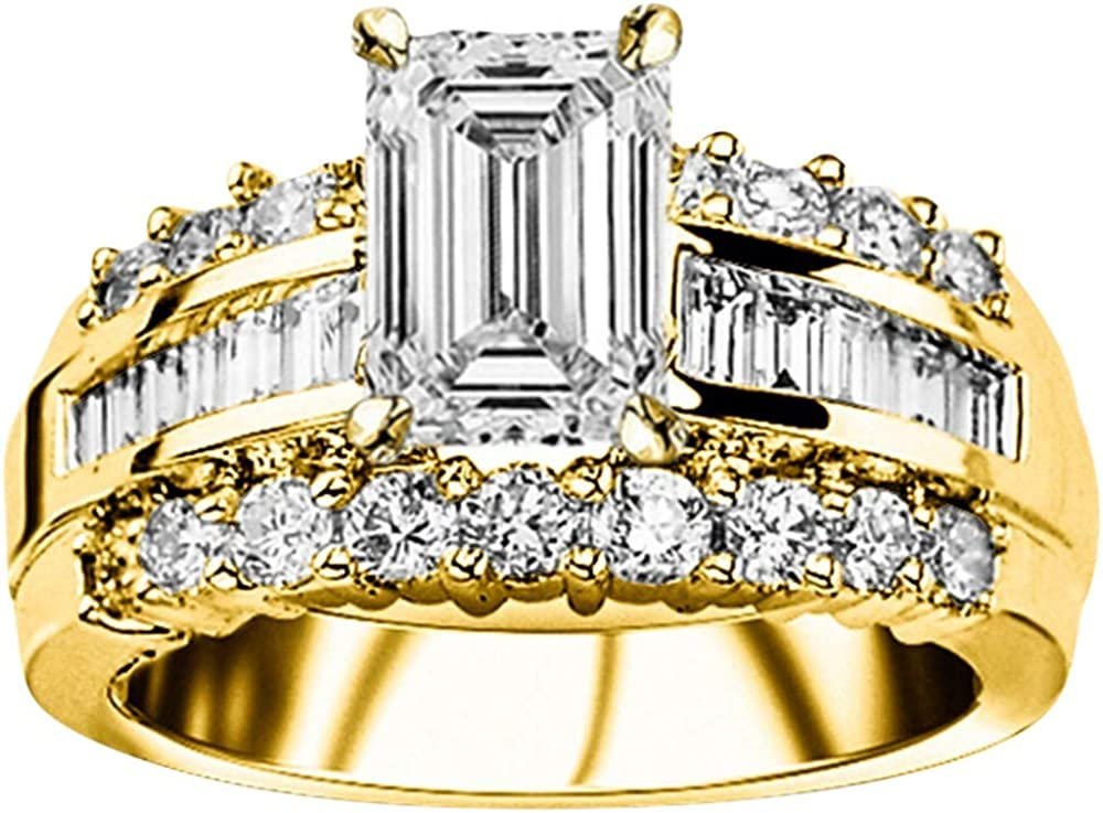 Great Max 65% OFF interest 1.9 Ctw 14K White Gold Channel Baguette GIA Certified Desi Round