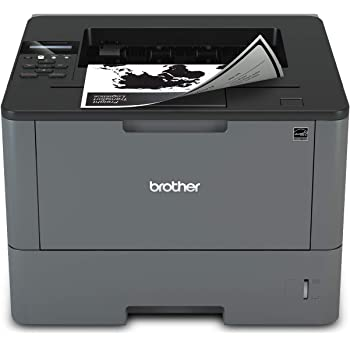 Brother Monochrome Laser Printer, HL-L5200DW, Wireless Networking, Mobile Printing, Duplex Printing, Amazon Dash Replenishment Ready