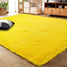 LOCHAS Ultra Soft Indoor Modern Area Rugs Fluffy Living Room Carpets for Children Bedroom Home Decor Nursery Rug 4x5.3 Fee...