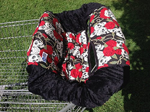 Buy Bargain Shopping Cart Cover- Skulls and Roses/Black
