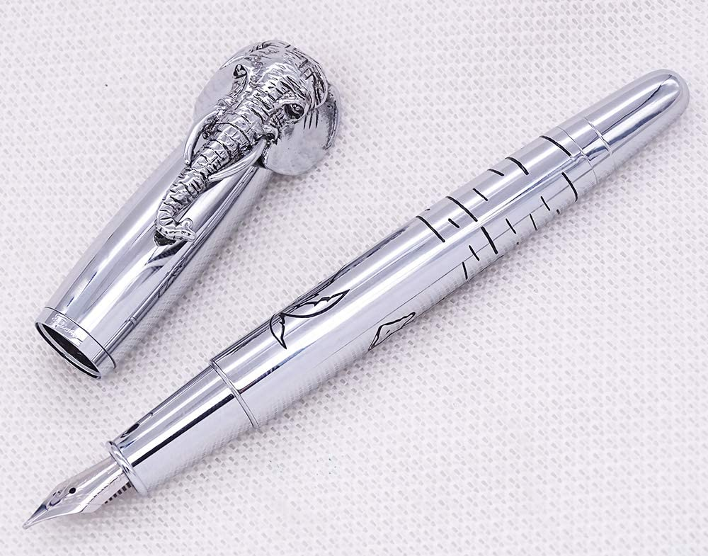 Fuliwen Vintage Elephant Rollerball Pen Red Copper Metal Gift Pen for Notebook Journal