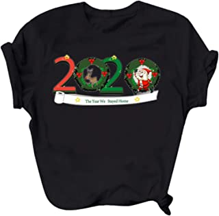 Womens Christmas Pullover T-Shirts Letter Print...