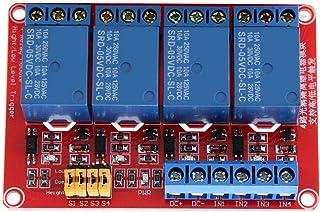 Scheda relè a 4 canali per relè con optoaccoppiatore Scheda di espansione trigger a basso livello per Arduino 5V / 12V / 2...