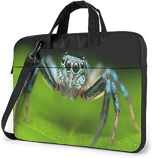 "Macro Shot of A Jumping Spider Laptop Bag Protective Case Computer Messenger Briefcase Women Men 13"""