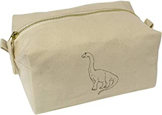 'Long-Necked Dinosaur' Canvas Wash Bag / Makeup Case (CS00018380)